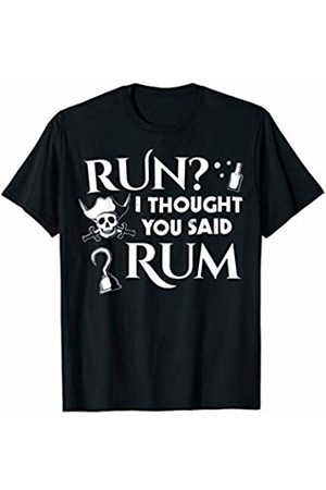 Pirate Costumes & Apparel Run I Thought You Said Rum Funny Adult Running Pirate T-Shirt