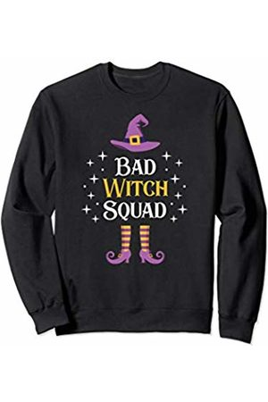 Funny Witch Halloween Costume T-Shirt Women Kids Bad Witch Squad Shirt Matching Group Girls Party Gift Sweatshirt