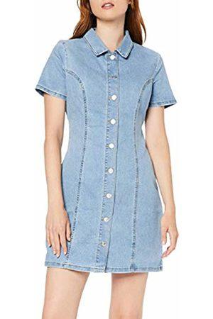 New Look Women's Button Through Western Dress, Dark 44