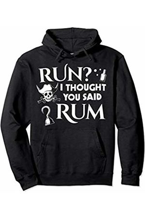Pirate Costumes & Apparel Run I Thought You Said Rum Funny Adult Running Pirate Pullover Hoodie