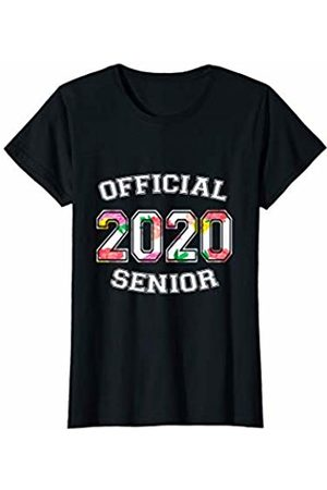 Official Senior 2020 High School Gifts Womens Official Senior 2020 Grad High School Floral Sports Girl T-Shirt
