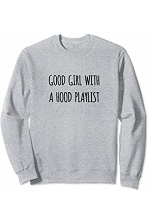 Fun Apparel & Co. Good Girl With A Hood Playlist Gym Workout Sweatshirt