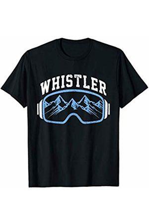 Whistler Ski & Snowboard Apparel Co. Whistler Ski Snowboard Mountain Bike Goggles Souvenir T-Shirt