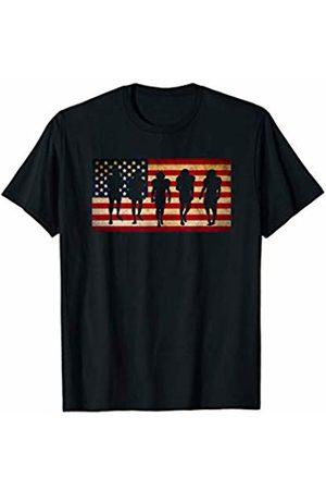 Sports Fan Shirts For Men Women Vintage Football Team Player Sport Fan US Flag Men T-Shirt