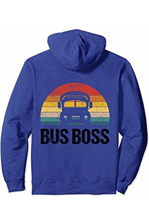 Bus School Shirt Co. Vintage Bus School Outfit For Kids Toddlers Students Driver Pullover Hoodie