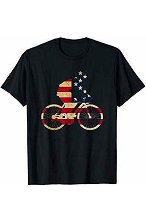 Sports Fan Shirts For Men Women Vintage Cycling Cycle Team Player Sport Fan US Flag Bike T-Shirt