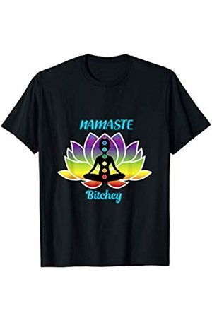 Spiritual Sarcasm Yogi Gift, Present and Tee Funny Yoga Zen Shirt Namaste Bitches Meditation T-Shirt