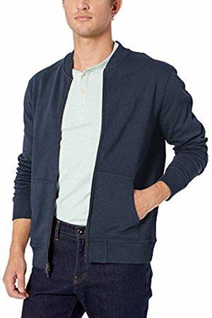 Goodthreads Men's Fleece Bomber Sweatshirt, (Navy)