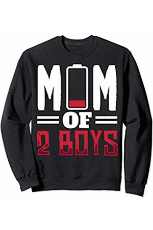 Running On Empty Mom Of Boys Gift Design Mom of Boys Running On Empty Gift Design Idea for Moms Sweatshirt
