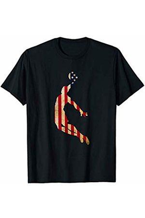 Sports Fan Shirts For Men Women Vintage Basketball Team Player Sport Fan US Flag T-Shirt