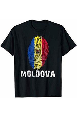 Vishtea MOLDOVA Finger Print Flag Tshirt I Love MOLDOVA Travel Tee T-Shirt
