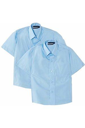 Blue Max Banner Boy's Twin Pack B Short Sleeve School Shirt