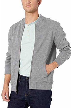 Goodthreads Men Sweatshirts - Men's Fleece Bomber Sweatshirt, (Heather )