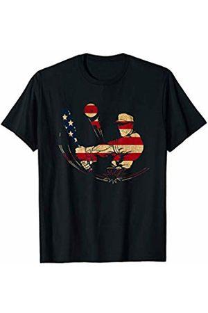 Sports Fan Shirts For Men Women Vintage Baseball Team Player Sport Fan US Flag Men T-Shirt