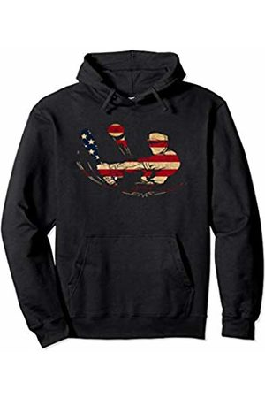 Sports Fan Shirts For Men Women Vintage Baseball Team Player Sport Fan US Flag Men Pullover Hoodie