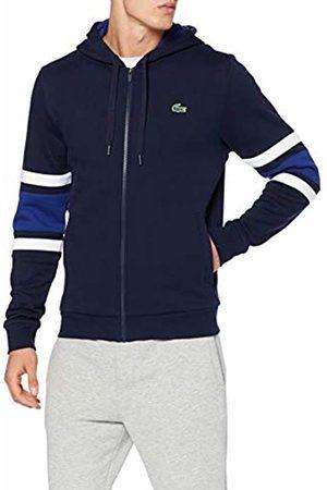 Lacoste Sport Men's Sh8658 Sweatshirt, (Marine Blanc-Ocean 4md)