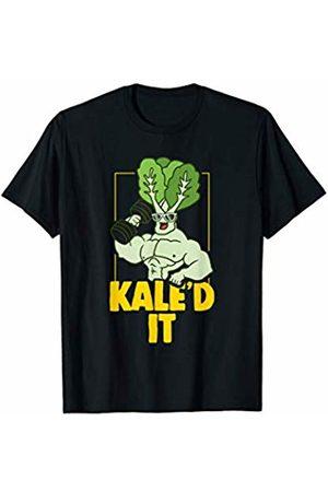 Vegan Vegetarian Apparel Men T-shirts - Kale Fitness Weightlifter Vegan Vegetarian T-Shirt