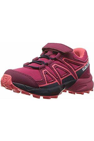 Salomon Kids' Trail Running Shoes, Speedcross Bungee K, Cerise/Navy Blazer/Dubarry