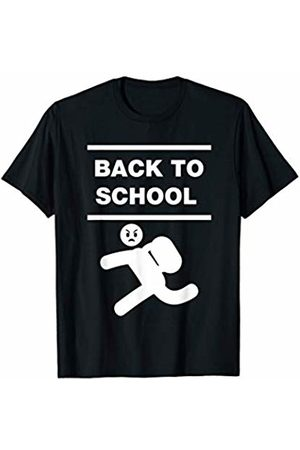 Back to School & Game Over PE Kit - First Day of School Angry Face Student Funny Running T-Shirt
