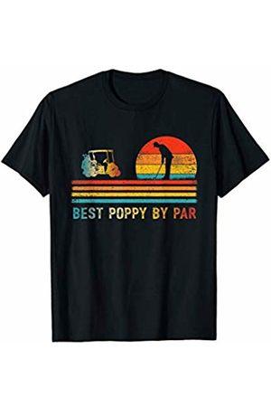 Best Poppy By Par T-Shirt Mens Funny Golf Best Poppy By Par Retro Father's Day Gift Golfer T-Shirt