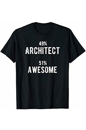 Architect is an Awesome Profession 49% Architect 51% Awesome - Funny Job Title T-Shirt