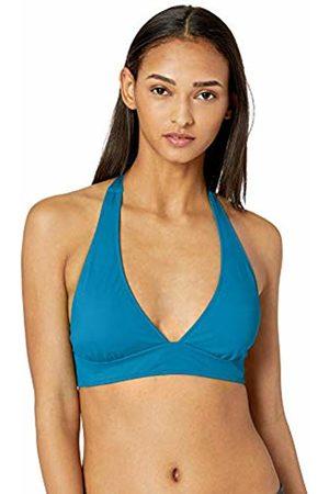 Amazon Tie Halter Bikini Top Teal