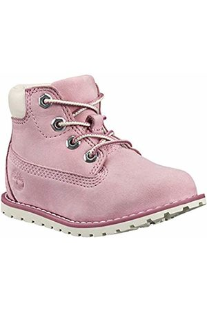 Timberland Unisex Kids' Pokey Pine 6In Boot with Side Zip Classic ( Nectar Nubuck)