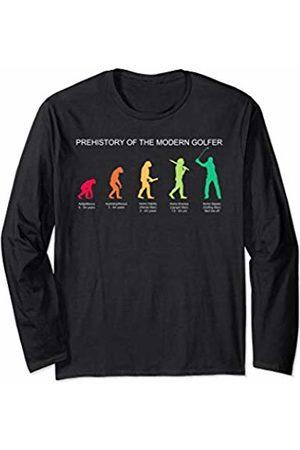 Alien Sheephead Funny Golf Shirt Evolution of Man History of Golfing Long Sleeve T-Shirt