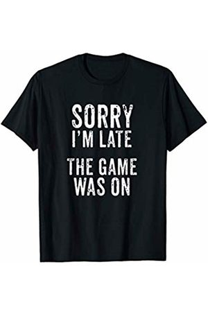 BDAZ Sports Sorry I'm Late The Game Was On Football Soccer Sports T-Shirt