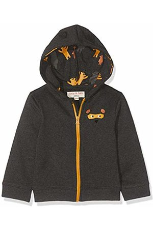 Lucy & Sam Baby Boys' Bear Hugs Charcoal Hoody