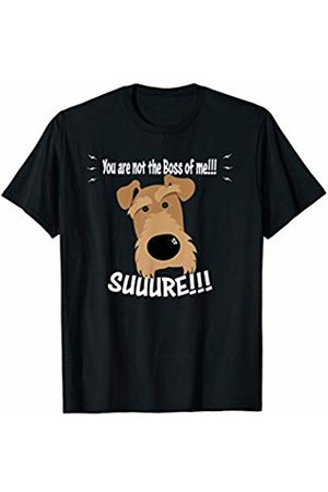 ToonTyphoon Amusing Airedale Terrier Not The Boss of Me T-Shirt