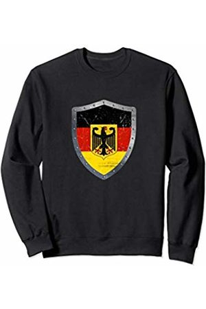 German Roots USA Raised Apparel Co. Germany Flag Shirt Gift Present For German Men Women Youth Sweatshirt