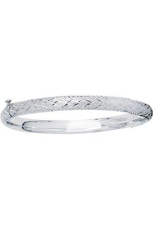 SuperJeweler 14K (3.70 g) Kids Diamond Cut Bangle Bracelet, 5 1/2 Inches