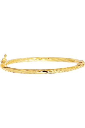 SuperJeweler 14K (3 g) Kids Twisted Rope Bangle Bracelet, 5 1/2 Inches