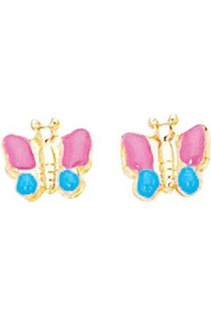 SuperJeweler 14K (1.50 g) Kids Butterfly Stud Earrings