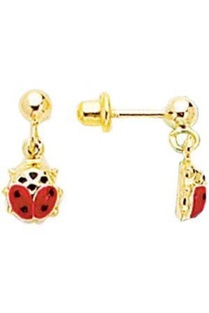 SuperJeweler 14K (0.90 g) Kids Ladybug Dangle Earrings