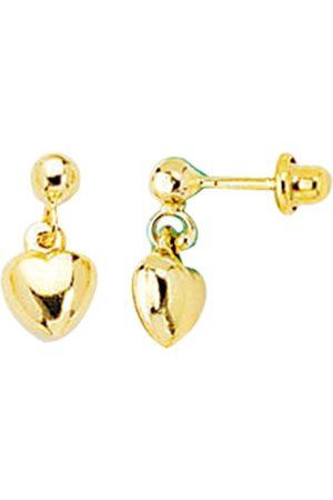 SuperJeweler 14K (1 gram) Kids Heart Dangle Earrings