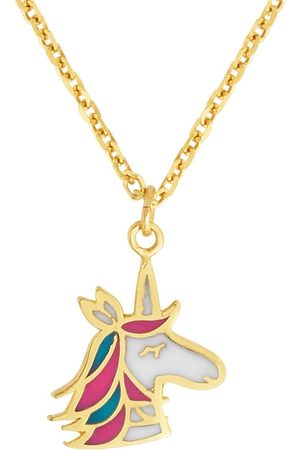 SuperJeweler 14K (1.38 g) Kids Unicorn Necklace, 14 Inches