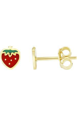 SuperJeweler 14K (1 gram) Kids Strawberry Stud Earrings