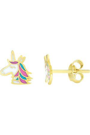 SuperJeweler 14K (1.18 g) Kids Unicorn Stud Earrings
