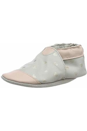 Robeez Baby Girls' First Love Low-Top Slippers, (Gris Rose Clair 121)