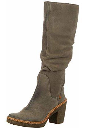 El Naturalista Women's N5178 Lux Suede Grafito/Haya High Boots
