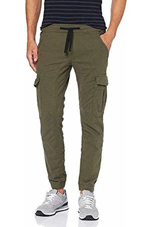 Tom Tailor Men's Cargo Sports Trousers, Dot Dobby Yarn 18941