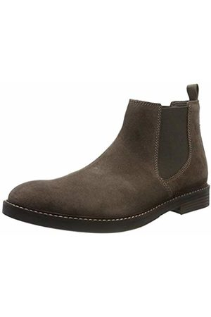 Clarks Men's Paulson Up Chelsea Boots, Taupe Suede