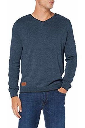 Camel Active Men Jumpers & Sweaters - Men's Vneck Plated Basic Jumper