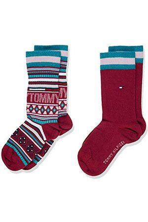 Tommy Hilfiger Girls' TH Kids Sock 2P Multi Color