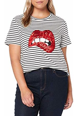 Simply Be Women's Ladies Sequin Lips T-Shirt