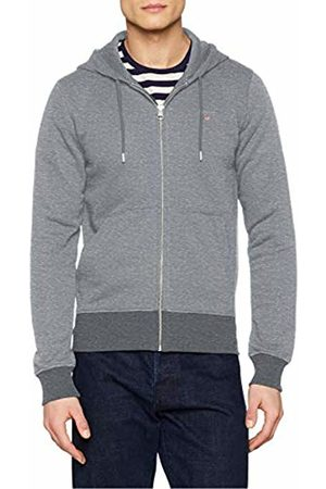 GANT Men's The Original Full Zip Hoodie (Dark Melange 92)