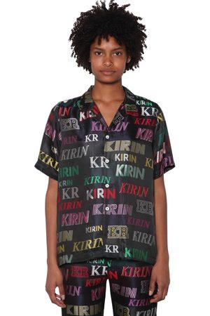 KIRIN Logo Lurex Jacquard Pajama Shirt