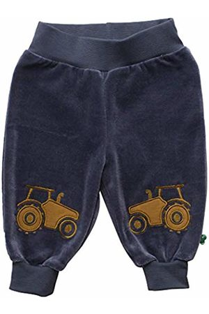 Green Cotton Baby Boys' Tractor Front Pants Trouser